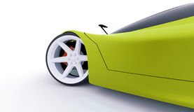 Green sport car concept Stock Image