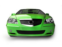 Green sport car front view Stock Photos