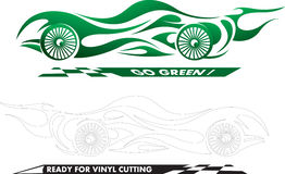 Green sport car. An illustration of abstract emblem of sport car ready for edit and vinyl cutting Stock Photography