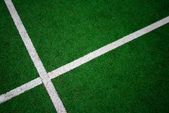 Green sport court detail Stock Photography