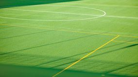 Green sport soccer grass field for multiple sports Royalty Free Stock Photography