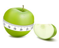 Green sports apple. Vector. Royalty Free Stock Photography