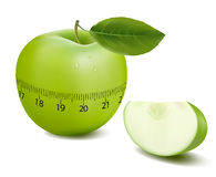 Green sports apple. Vector. Royalty Free Stock Image