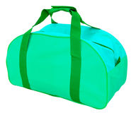 Green sports bag, isolated Stock Photo