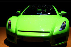 Green sports car. Isolated green sports car without logo stock photos