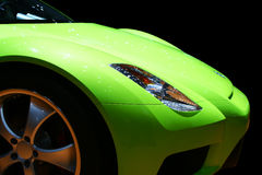 Green sports car Stock Image