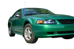 Green Sports Car Over White Stock Image