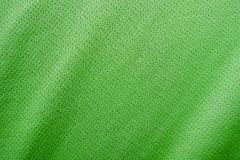 Sports clothing fabric jersey texture. Green sports clothing fabric jersey texture Royalty Free Stock Image