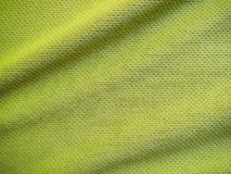 Sports clothing fabric jersey texture. Green sports clothing fabric jersey texture Royalty Free Stock Photography