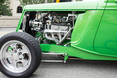 Green Sports Coup Engine Stock Photos