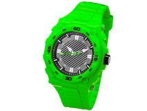 Green sports wrist watche. royalty free stock images