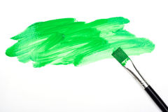 Green spot and brush Royalty Free Stock Photography