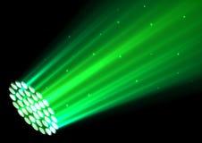 Green spotlights on dark background. Illustration of Green spotlights on dark background Stock Images
