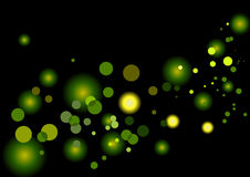 Green Spots Background Stock Photography