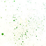 Green spots of paint Stock Photo