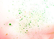 Green spots of paint Stock Images