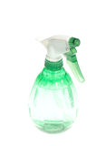 Green spray bottle. Isolated on white background Royalty Free Stock Photography