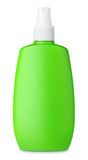 Green spray bottle isolated on white Stock Photo