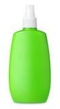 Green spray bottle isolated on white Stock Photo