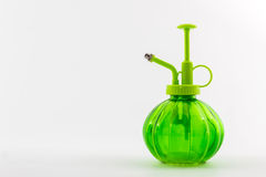 Green spray bottle . Royalty Free Stock Images