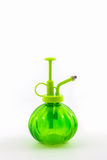 Green spray bottle. Royalty Free Stock Photography