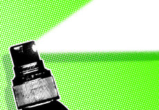 Green spray illustration Royalty Free Stock Images