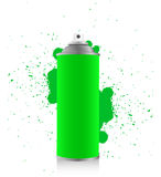 Green spray tin Royalty Free Stock Image