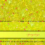 Green sprig background. Royalty Free Stock Photos