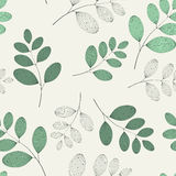 Green sprigs pattern Stock Images