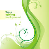 Green spring background. royalty free illustration