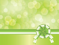 Green spring background with bow Royalty Free Stock Image