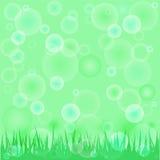 Green spring background.  illustration Royalty Free Stock Image
