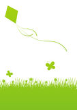 Green spring background. With place for text royalty free illustration