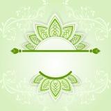 Green spring banner Stock Image