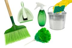 Green spring cleaning Stock Photos