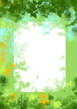Green spring floral grunge background Stock Images