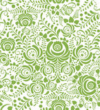 Green spring floral seamless pattern background Royalty Free Stock Images
