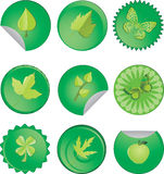 Green spring icons Stock Photo