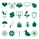 Green Spring Icons Royalty Free Stock Image
