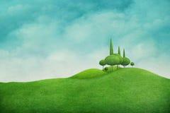 Green spring landscape royalty free illustration
