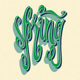 Green spring lettering Stock Image
