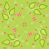 Green spring pattern Stock Photography