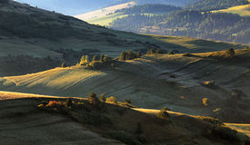 Green spring rural hills landscape, Slovakia Royalty Free Stock Photos