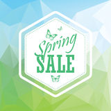 Green spring sale low polygonal landscape Royalty Free Stock Image