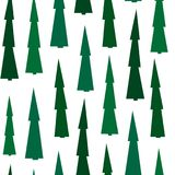 Green spruce forest seamless pattern. Conifer trees seamless background Royalty Free Stock Image