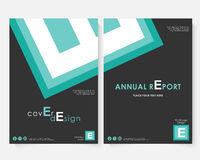 Green square annual report cover design template vector. Brochure concept presentation website portfolio. Black layout. Leaflet template. Magazine business Royalty Free Stock Photo