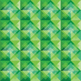 Green square background pattern Royalty Free Stock Photos
