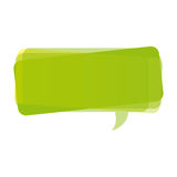 Green square chat bubble icon Stock Image