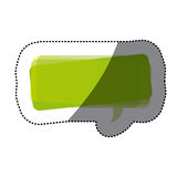 Green square chat bubble icon Royalty Free Stock Image
