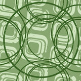 Green square and circles Stock Photo